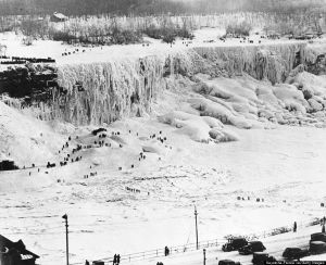 Niagara Falls Frozen In 1936